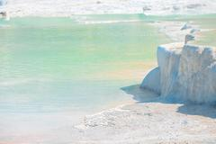 Stock Photo of natural source of landmark in turkey. pamukkale