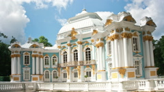 Hermitage pavilion. Catherine Park. Pushkin (Tsarskoye Selo). Petersburg Stock Footage