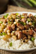 homemade southern hoppin john - stock photo