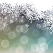 snowflakes background with isolated side - stock illustration