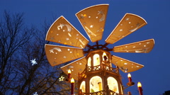 Timelapse 4K UHD FHD Germany Munich Christmas Fair Market turning Pyramide Stock Footage