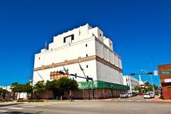 famous art deco architecture in south miami at washington road - stock photo