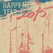 2015 new year background retro styled Stock Illustration
