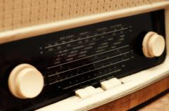 Stock Photo of old radio tuner
