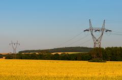 High voltage pole Stock Photos