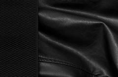 black leather background with margin - stock photo
