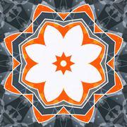 Mandala orange swadhisthana lotus flower symbol. Stylized chakra image Piirros
