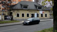 Building - exterior restaurant Stock Footage