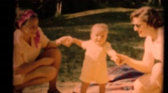 Middle America ,1949, Mom and Sister Stock Footage