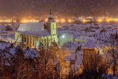 the black church, brasov, romania - stock photo