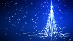 Blue Streaks Christmas Tree Stock Footage