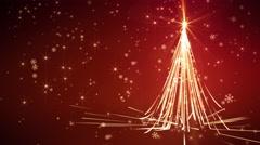 Red Streaks Christmas Tree - stock footage
