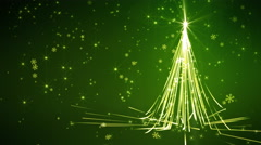Green Streaks Christmas Tree Stock Footage