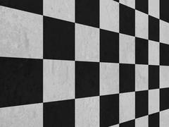 Large black and white checker floor background pattern.. Stock Illustration