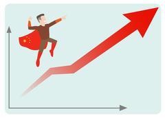 China economics rising Stock Illustration