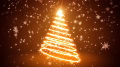 Glowing Light Streaks Christmas Tree - stock footage