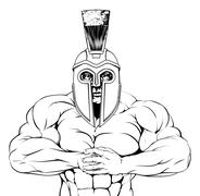Stock Illustration of tough trojan spartan or gladiator