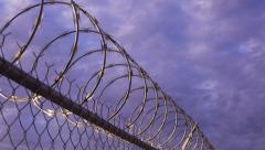 Stock Video Footage of Razor Wire Timelapse