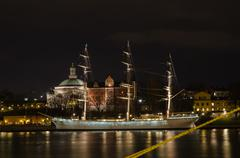Old ship in stockholm, sweden Stock Photos