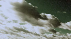 Heavy RAIN  falling from sky with stormy clouds  Stock Footage