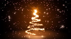 Stock Video Footage of Warm Glittering Sparkles christmas Tree