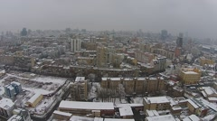 Winter in the Kiev city, aerial view Stock Footage