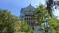 Neuschwanstein Castle Bavarian Alps Germany close 4K 093 Stock Footage