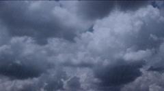 Dark Heavy RAIN  falling from sky with dark stormy clouds Stock Footage