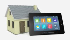 Concept of home automation Stock Illustration
