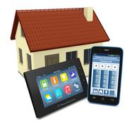 Stock Illustration of concept of home automation
