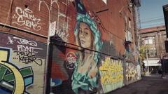 Graffiti in the city Arkistovideo