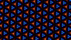 Triangular Fractal Shapes in Motion Geometricas Stock Footage