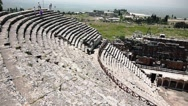 Stock Video Footage of Panoramic View Of An Ancient Amphitheater