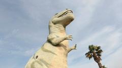 Cabazon Dinosaur Tyrannosaurus Rex 2 - stock footage
