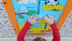 Girl playing in  educational intellectual games - stock footage
