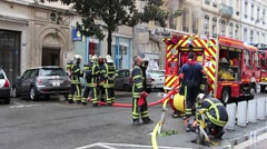 French fire brigade 3 Stock Footage