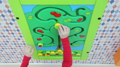 Stock Video Footage of Girl playing educational games