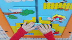 Girl  playing educational games - stock footage