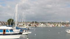 Newport Beach Harbor 1 Stock Footage
