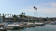 Newport Beach Harbor 2 Stock Footage