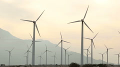 Wind Farm San Gorgonio Pass 2 Stock Footage