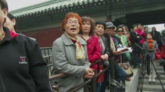 Chinese sing patriotic songs 2 Stock Footage