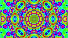 Psychedelic Colorful Kaleidoscope VJ background loop 1 Stock Footage