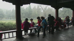 Card game in Beijing Park Stock Footage