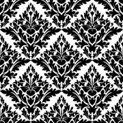 Stock Illustration of beautiful gothic floral pattern design