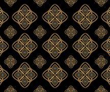 Stars motif geometric arabesque pattern Stock Illustration