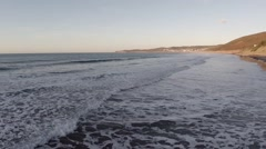 English Beach at Sunset Stock Footage