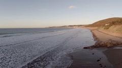 Sandy Beach in Devon Stock Footage
