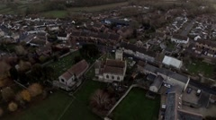 Aerial view of Church - stock footage