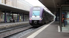 Railway station in Grenoble France 5 Stock Footage